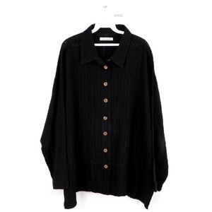 Yasuko Kurisaka Knit Lagenlook Tunic Shirt Jacket